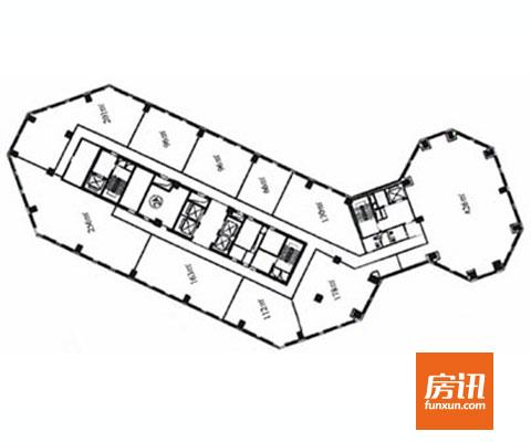 京汇大厦平面图
