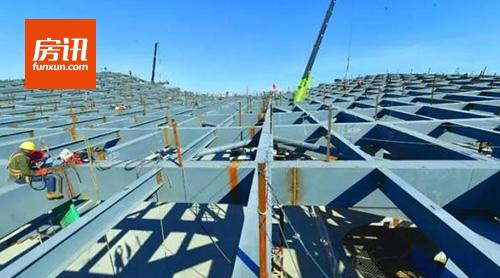 北京:地铁环球影城站钢结构施工 预计本月20日完工