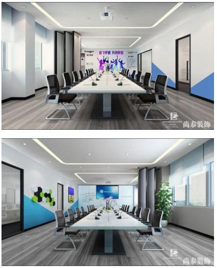 """尚泰装饰为其打造的新办公室集办公,休闲为一体,设计方案以""""纯净""""为"""