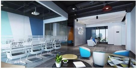 安防公司办公室装修设计,专业,稳重,高科技样样俱全